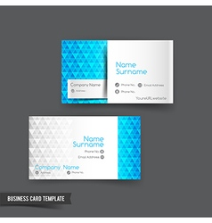 Business card template set 047 vector