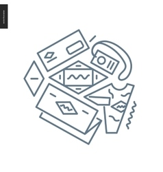 Identity outlined icon vector