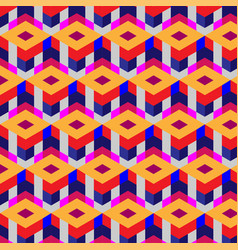abstract cube pattern colorful design geometric vector image