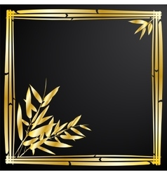 Bamboo branches on black background vector