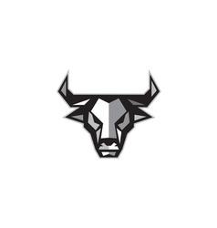 Bull cow head low polygon vector