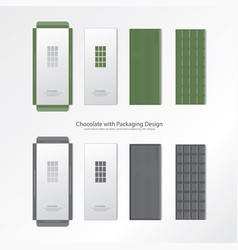 chocolate with packaging design vector image