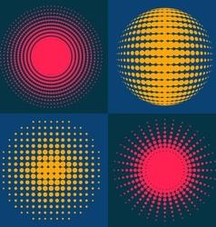 Circle abstract halftone vector