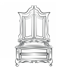 Classic royal ornamented glass closet vector