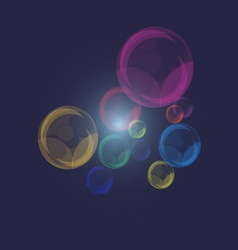 Color of pearl bubbles on dark blue background vector