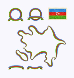 Colors of Azerbaijan vector image vector image