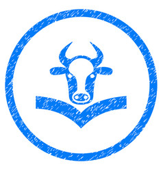 Cow handbook rounded grainy icon vector