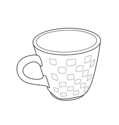 cup outline vector image vector image
