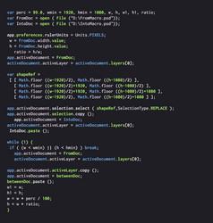 Digital java code text computer software coding vector