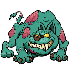 dog zombie vector image