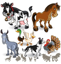 Farm Animals Collection Set 02 vector image vector image