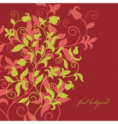 floral illustration vector image vector image