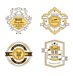 Four Label Set vector image