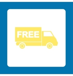 Free shipment icon vector image
