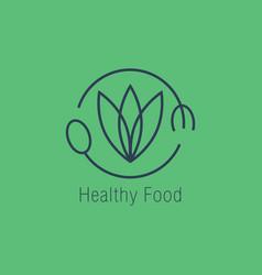 healthy food logo icon design vector image vector image