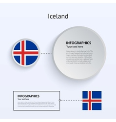 Iceland Country Set of Banners vector image