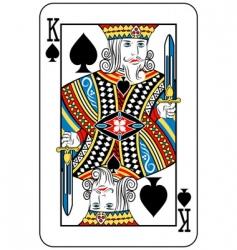 king of spades vector image vector image