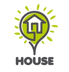 Logo house in the form of a flower vector
