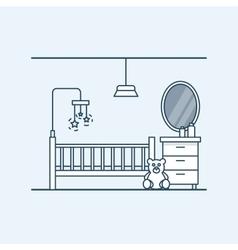 Modern interior design of a child room Children vector image vector image