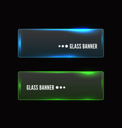 Modern transparent glass banner set vector