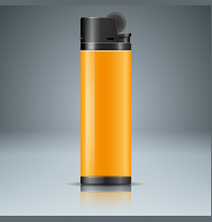 Realistic lighter with reflect on the grey vector