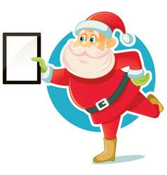 Santa claus holding gift box vector