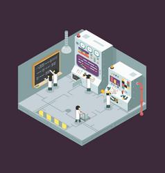 scientific laboratory experiment experience vector image