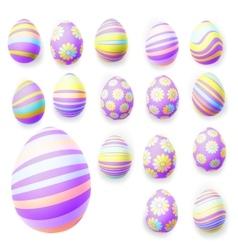 Set of easter eggs eps 10 vector