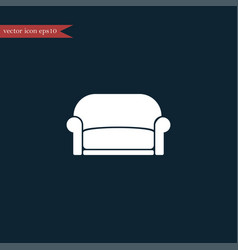 sofa icon simple furniture sign vector image