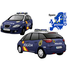 spain police car vector image