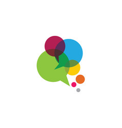 Speech bubble icon logo template vector