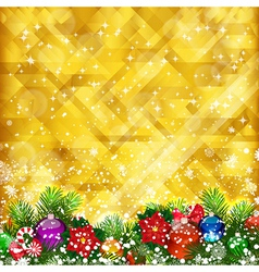 Stars golden background vector image vector image