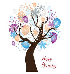 Tree birthday vector