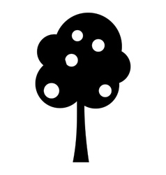 Tree with fruit icon simple style vector