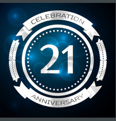 twenty one years anniversary celebration with vector image