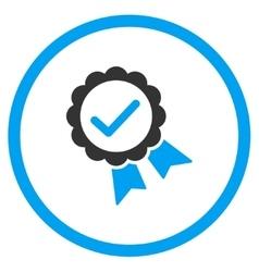Valid award seal icon vector