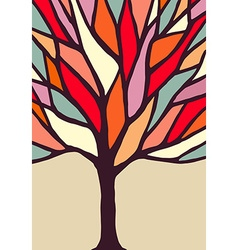 Tree with colorful branches vector