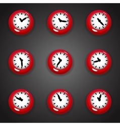 Colorful cartoon style clock timer for game with vector