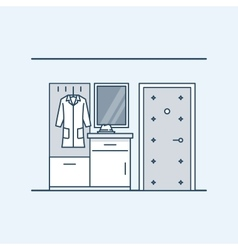 The modern design of the hall wardrobe with a vector