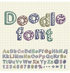 Abstract doodle font vector