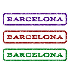 Barcelona watermark stamp vector