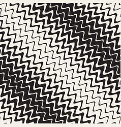 seamless wavy hand drawn stripes pattern vector image