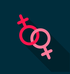 Feminine icon flat single gay icon from the big vector