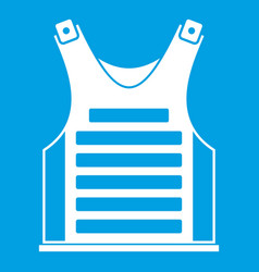 Paintball vest icon white vector