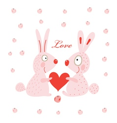 lovers hares vector image