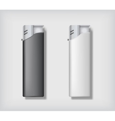 Two lighters mockup vector