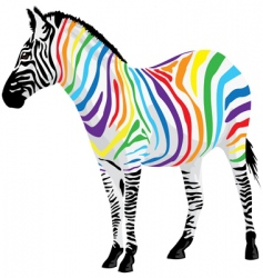 zebra strips of different colors vector image