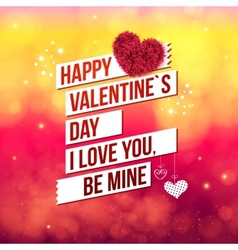 Attractive happy valentines day concept vector