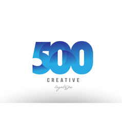 500 blue gradient number numeral digit logo icon vector