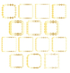 gold square frames vector image